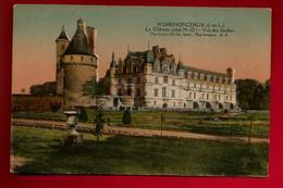 CPA Colorisée 37 Château De Chenonceaux Côté Nord Ouest Vue Des Jardins - Ed A.P. Papeghin 31 - Chenonceaux