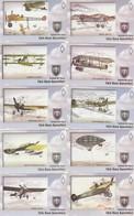 Turkey, TR-TRK-AIR-0001 - 00010, Set Of 10 Cards, Turkish Air Force - 01, 2 Scans, - Turkije