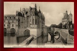 CPA 37 Château De Chenonceaux L'aile Thomas Bohier Et La Tour Des Marques - Ed LL 5 - Chenonceaux