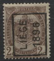 PREOS Roulette - LIEGE 1896 (position A). Cat 76 Cote 450. - Roller Precancels 1894-99