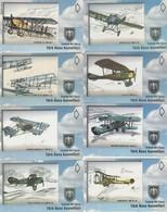 Turkey, TR-TRK-AIR-0011 - 00020, Set Of 10 Cards, Turkish Air Force - 02, 2 Scans, - Turkije