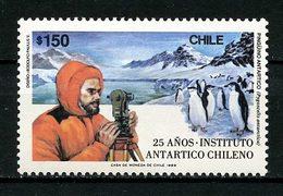CHILI 1989 N° 918 ** Neuf MNH  Superbe Institut Antarctique Scientifique Faune Oiseaux Manchots - Chile