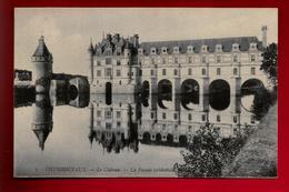 CPA 37 Château De Chenonceaux La Façade Occidentale - Ed LL N° 1 - Couleur Un Peu Bleutée - Chenonceaux