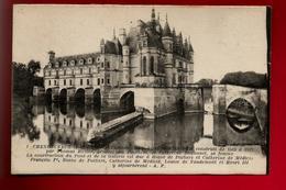 CPA 37 Château De Chenonceaux Côté Nord Est - Ed A.P. Papeghin N° 1 - CAD De 1921 Pour L Dumas Paris - Chenonceaux