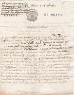 1821 EVECHE De MEAUX - L.A.S. Evèque De Meaux - Construction D'un COLLEGE MIXTE - Documents Historiques