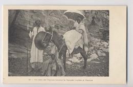 Un Ami De L'Époux Amène La Fiancée (voilée) à L'époux - Ethiopie - Âne - Mariage - Wedding - Animée - Ethiopië