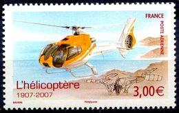 N° Yvert & Tellier 70 - Timbre De France (2007) - Poste Aérienne - ** Neuf - Centenaire Hélicoptère - 1960-.... Mint/hinged