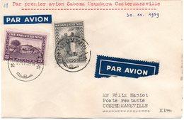 Ruanda-Urundi - Enveloppe Par Premier Avion SABENA Usumbura à Costermansville 30-11-1939 - Ruanda-Urundi