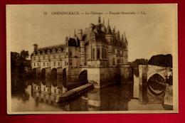 CPA Glacée 37 Chenonceaux Le Château Façade Orientaale - Ed LL 12 - Couleur Jaunâtre - Chenonceaux