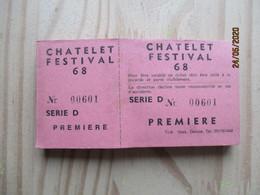 CHATELET    FESTIVAL - Châtelet