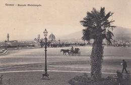 FIRENZE-PIAZZA MICHELANGELO-CARTOLINA NON VIAGGIATA-ANNO 1910-1920 - Firenze (Florence)