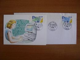 N° 2639/2640 Journée Du Timbre 1990 - Cartoline Maximum