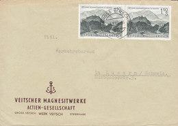 Austria VEITSCHER MAGNESITWERKE A.G. GROSS VEITSCH 1961 Cover Brief LUZERN Schweiz 2x Volksabstimmung Kärnten - 1945-.... 2ème République