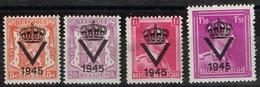 Belgique - 1945 - Emission Privée V - Neufs Avec Traces De Charnières. 1 Fr Aminci - Privé- & Lokale Post