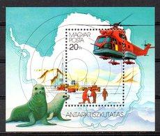 HONGRIE. BF 191 De 1987. Hélicoptère Dans L'Antarctique. - Hélicoptères