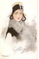 """W. Barribal. Pretty Lady. Fantasy Hat. Mignone"" Nice Vintage English Postcard - Barribal, W."