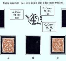 Blanc N° Y.T 110 X 2 Variétés De Case */** - 1900-29 Blanc