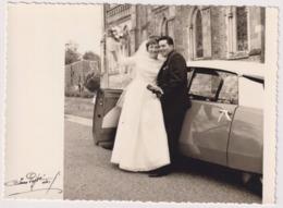Grande PHOTO JEAN POPPE à NICE Souvenirs De Mariage En CITROËN DS - Voitures De Tourisme