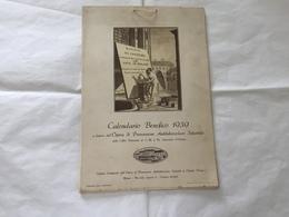 CALENDARIO BENEFICO 1939 COSTUMI MILANO OPERA ANTITUBERCOLARE OLGIATE OLONA - Big : 1921-40
