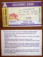 ITALIA Metrebus  Roma  Abbonamento Mensile  - Usato Giugno 2005 - Europa