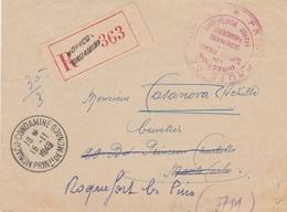 LETTRE REC EN FRANCHISE MONACO 1949 SERVICES FISCAUX POUR ROQUEFORT LES PINS - Monaco