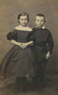 France Dunkerque Portrait Enfants Mode Villette Ancienne Photo CDV William 1870 - Fotos