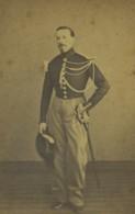 France Lens Gendarme Henri Cliquennois Militaire Ancienne Photo CDV 1870 - Photos