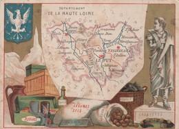 941 - CHROMO DEPARTEMENT DE LA HAUTE LOIRE . SCANS RECTO VERSO - Unclassified