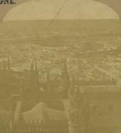 Espagne Seville Panorama Arene Maestranza Ancienne Photo Stereo 1860 - Stereoscopic