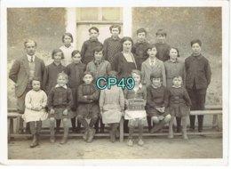 49 - LA POMMERAYE - PHOTO école En 1933 - Format 178 X 130 M/m Environs Dos Vierge - Other Municipalities