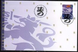 2011 Finland, 4 € Violet Lion  FDC. - FDC