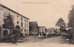 88 - La Bourgonce, Près De Saint-Dié : Café De La Valdange - Petite Animation, Chevaux , Chariots -  Belle CPA Neuve - Other Municipalities