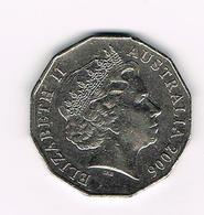 -&  AUSTRALIE  50 CENTS  2006 - 50 Cents