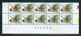 Buzin Nr PRE825**  Strook Van 10 Met Datum 14-I-92 - 1985-.. Vogels (Buzin)