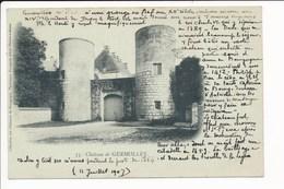 Carte Du Château De GERMOLLES  Collection Des Châteaux De Bourgogne ( Recto Verso ) - Autres Communes