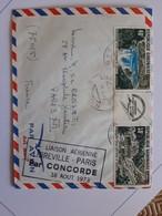 Pli Concorde Libreville Paris  RR - Concorde