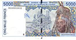 West African States P.713kd  5000 Francs 1995 Au+ Senegal - Sénégal