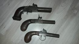 Lot De 3 Revolvers - Armas De Colección