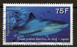 Polynésie Française - Polynesien - Polynesia Poste Aérienne 2014 Y&T N°PA1067 - Michel N°F1267 (o) - 75f Requin Pointe - Used Stamps