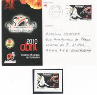 Bundle   Personalized Stamp + Circulated Postcard , 3rd WUKF EUROPEAN KARATE , Santarem 2010 , Amicale - Arti Marziali
