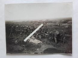 1916 1918 Flandern Somme Caisson Artillerie British Army Embourbé Bef Anglais Tranchée 14 18 Poilu 1WK WW1 Photo - Krieg, Militär