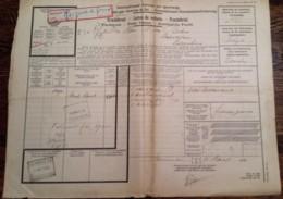 SPOORWEG VRACHTBRIEF LEEUWARDEN 1930 > ESSCHEN (B) STEMPELS!  VIGNET - Railway