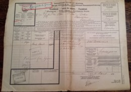 SPOORWEG VRACHTBRIEF LEEUWARDEN 1930 > ESSCHEN (B) STEMPELS!  VIGNET - Chemins De Fer