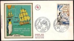 Francia/France: FDC - Pinguino, Penguin, Veliero, Sailing Ship, Bateau à Voile - Antarctic Wildlife