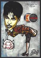 CPM Timbre Monnaie Tirage Limité 30 Ex Numérotés Signés Non Circulé Araignée Prince Madonna - Stamps (pictures)