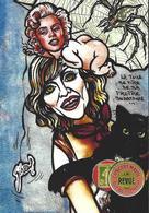 CPM Timbre Monnaie Tirage Limité 30 Ex Numérotés Signés Non Circulé Araignée Madonna - Stamps (pictures)