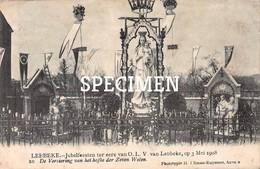 Jubelfeesten Ter Eere Van OLV Van Lebbeke 1908 - 10 De Versiering Van Het Hofke Der Zeven Weëen - Lebbeke - Lebbeke
