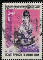 Burma 1974 Oblitéré Used Femme Rakhine Assise Woman SU - Myanmar (Burma 1948-...)