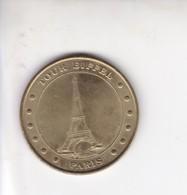 Medaille Jeton Touristique Monnaie De Paris MDP  La Tour Eiffel 12 Points 2005 - Monnaie De Paris
