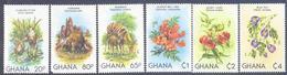 1982. Ghana, Animals & Flowers Of Ghana, 6v, Mint/** - Ghana (1957-...)